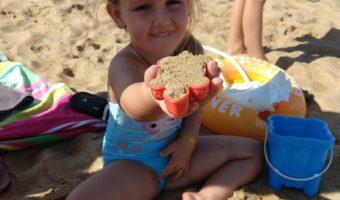 Nikki op het strand
