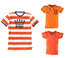Oranje - jongens t-shirts