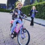 Jeuj! De jongste dochter fietst!