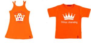 oranje jurkje en shirt