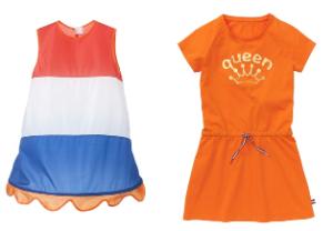 oranje - meisjes jurken