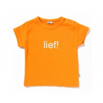 oranje t shirt lief
