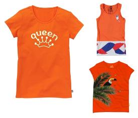 oranje - t-shirt meisjes