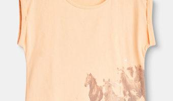 Op T-shirt jacht voor de kleuter.