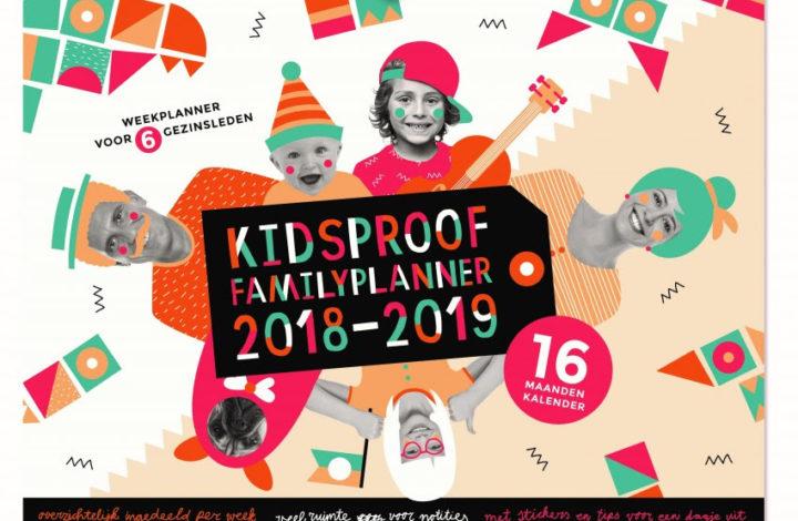 Best handig en overzichtelijk: Kidsproof Familyplanner 2018-2019