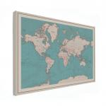 En straks hangt er een wereldkaart op de speelgoedkamer